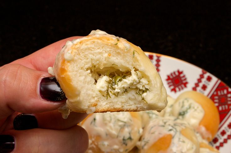 Claudia's Cookbook - Ukrainian Cottage Cheese Buns with Creamy Dill Sauce 34