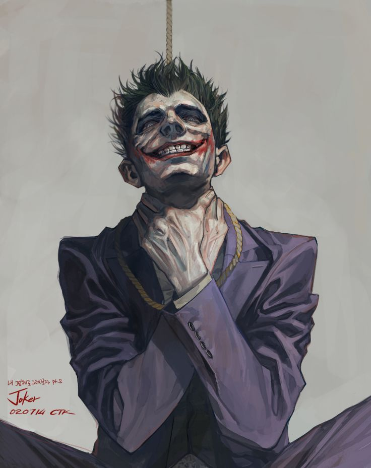 Daily Drawing 02/07/14 Joker from Arkham Origin