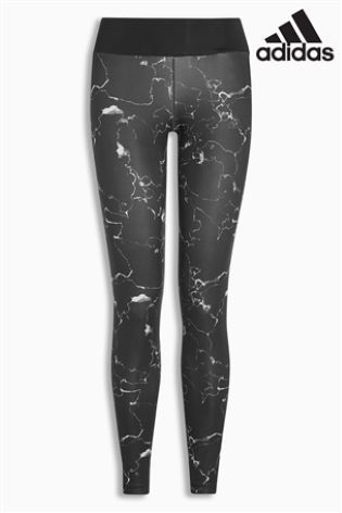 """Черные леггинсы adidas с """"мраморным"""" рисунком - Покупайте прямо сейчас на сайте Next: Украина"""