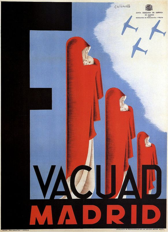 Canavate. Evacuate Madrid 1937 (Spanish Civil War poster)