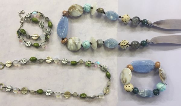 Featured on QVC… Tuesday 18th July at 2pm. #necklaces #bracelets #chunky #pastel #blue #beads #onebutton #qvc