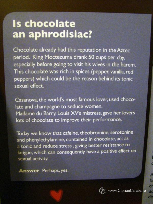 """Muzeul Ciocolatei - Choco Story din Brugge ne ofera raspunsul la intrebarea """"Ciocolata este un afrodiziac?"""""""