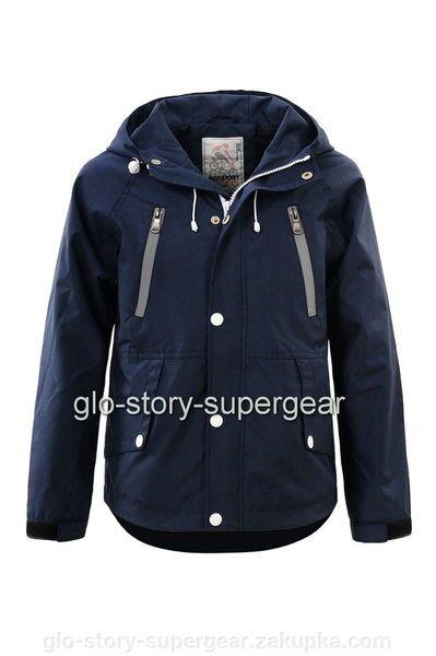 Детская верхняя одежда (куртка) для мальчиков синего цвета с капюшоном. Купить демисезонную детскую верхнюю одежду (куртку) из хлопка без утеплителя за 0.00 грн в Ужгороде на Zakupka.com.