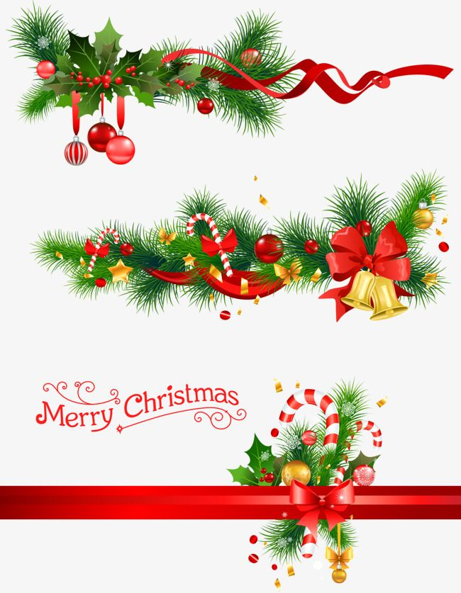 Christmas Bells And Pine Branches Vector Pine Png