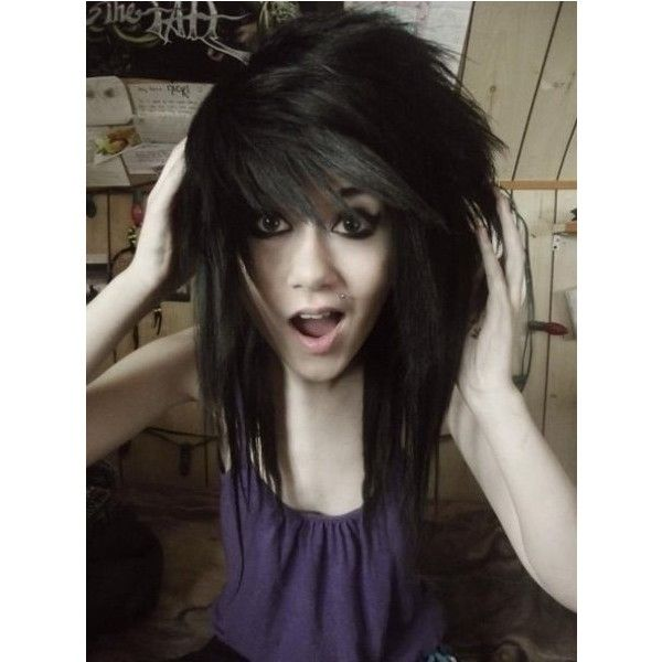 Scene girl cute scene girls ❤ liked on Polyvore featuring hair, girls, people and scene hair