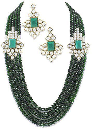 VVS Jewellers Indian Bollywood Green pearls 5-Line Double Kundan Exclusive Brooch Rakhi Gift Necklace Set VVS Jewellers, http://www.amazon.com/dp/B01MXKGZWH/ref=cm_sw_r_pi_dp_x_F8gGzbAV3XH60