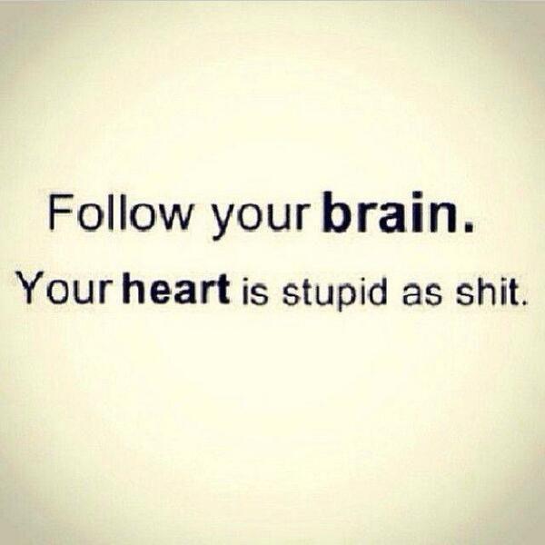 Follow your brain.