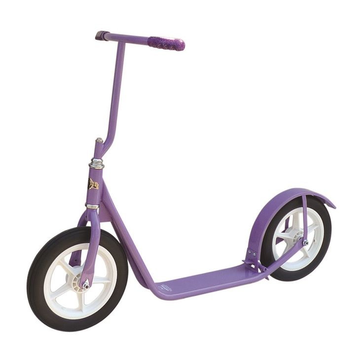 "12"" CHILDREN'S SCOOTER Genuine Amish Child Foot Bike w/ Basket & Brake in Bright Colors"