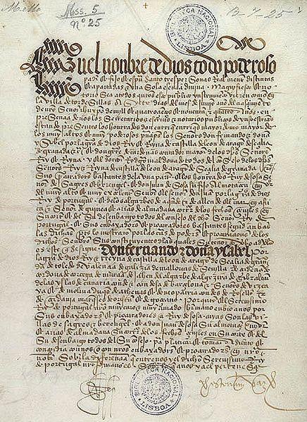 """O Tratado de Tordesilhas (1494), firmado entre Espanha e Portugal para repartir as terras descobertas e """"por descobrir"""", definiu os rumos da história do """"futuro"""" Brasil."""