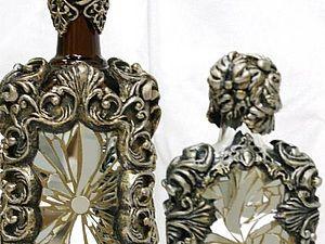 Мастер-класс: декор бутылки зеркальной мозаикой и эпоксидной смолой | Ярмарка Мастеров - ручная работа, handmade