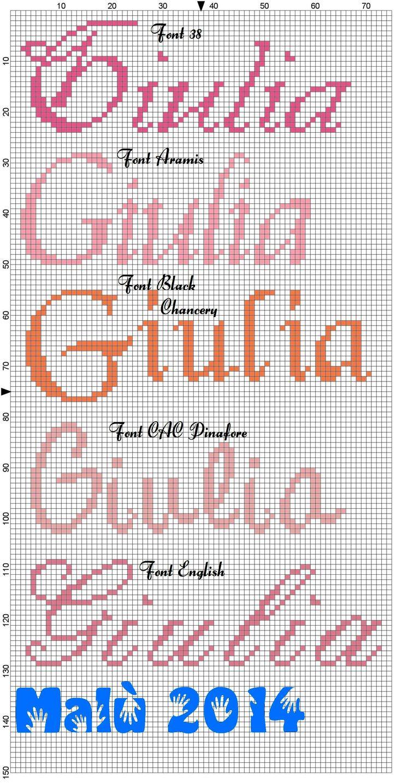 Giulia corsivo