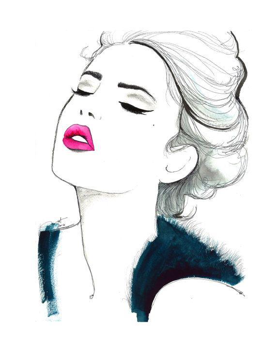 Impresión de la original ilustración moda por JessicaIllustration