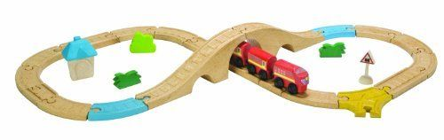 Plan Toys City Road and Rail Railway 8 Piece Figure Set -- AMAZON Great Sale