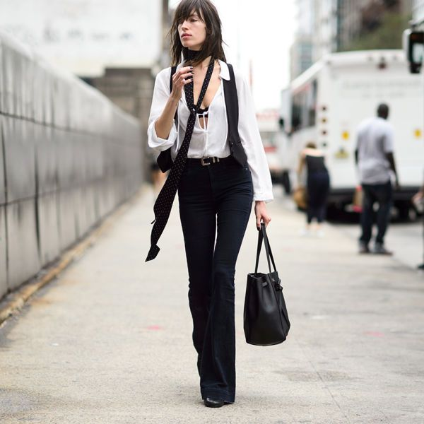 the skinny scarf trend