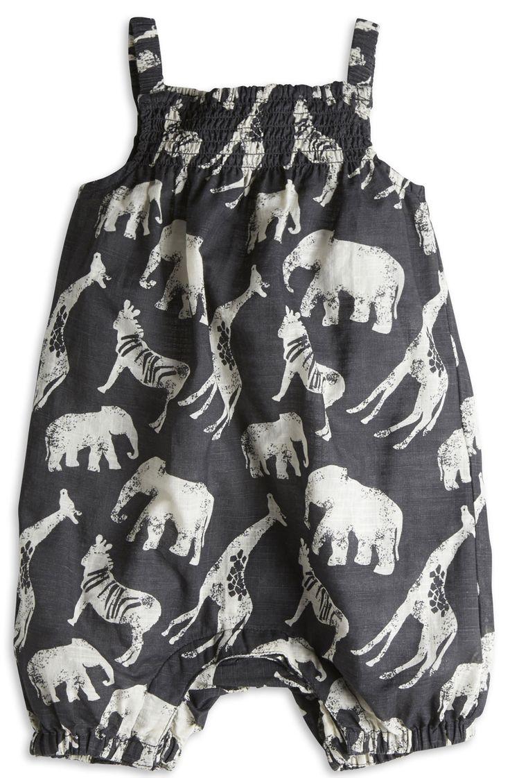 Safari romper, how cute is this? #girls #fashion #designer #estella