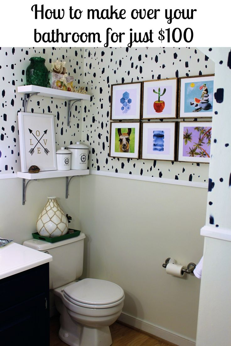 Pic Of Budget Powder Room Makeover from KnockitOffKim