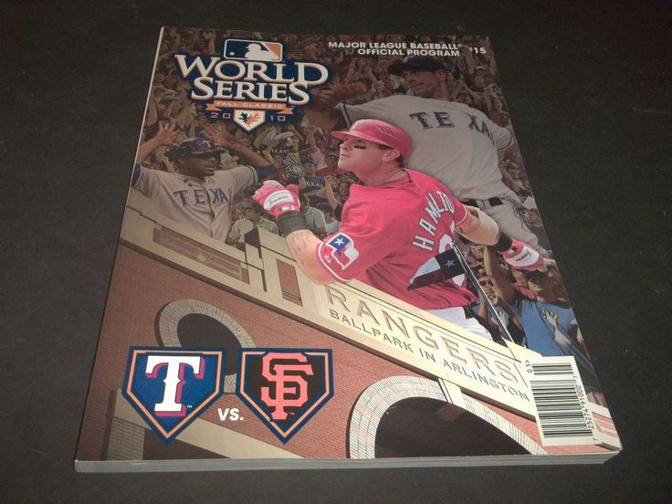 World Series Program Texas Rangers vs Saint Louis Cardnials 2011 w Rosters #WorlSeries