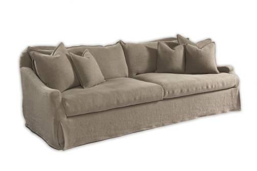 Belgium Linen Slipcover Sofa Scandinavian Swedish