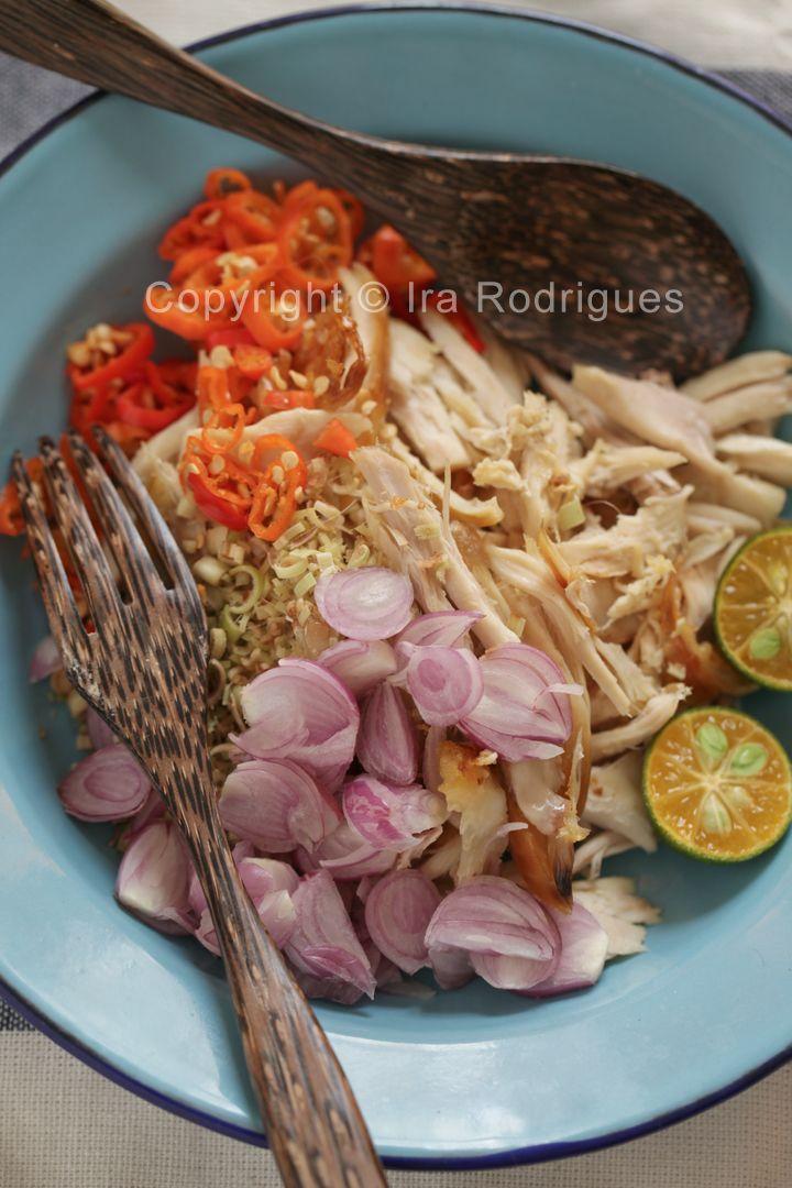 Balinese chicken shallots, Sambal matah ayam