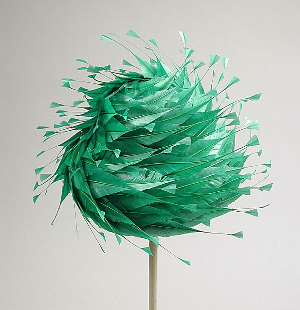 Last for today, a whimsical 1965 hat with beautiful feather work, Saks Fifth Avenue.