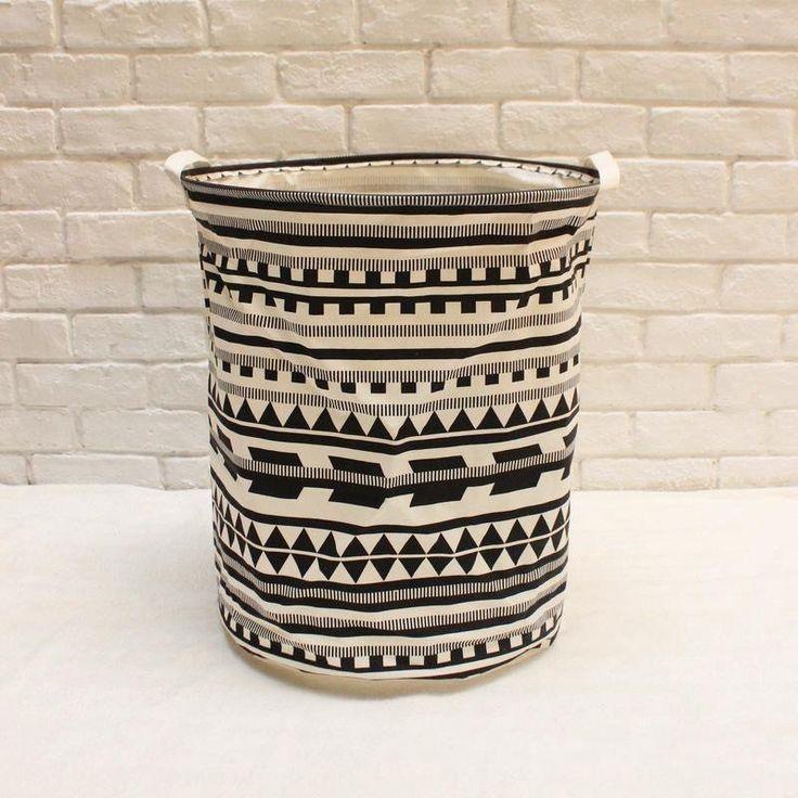 Extra Large Aztec Geometric Tribal Laundry Hamper/ Laundry Basket/ Nursery Home Decor/ Toy Storage Bin