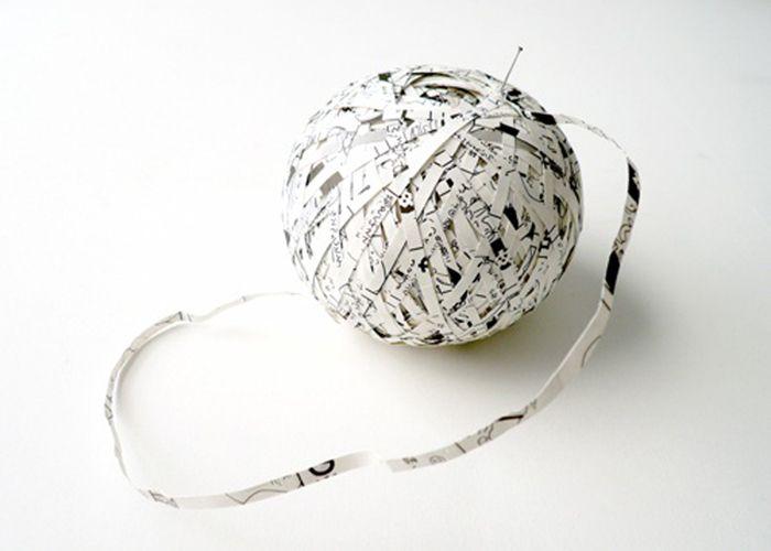 Stefana McClure - DRAGONBALL: A MANGA BY AKIRA TORIYAMA - 2009 - Cut paper, circumference 28 cm