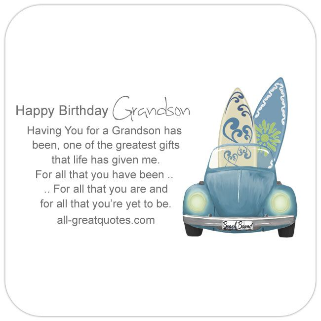 The 25 best Grandson birthday quotes ideas – Verses for 50th Birthday Cards