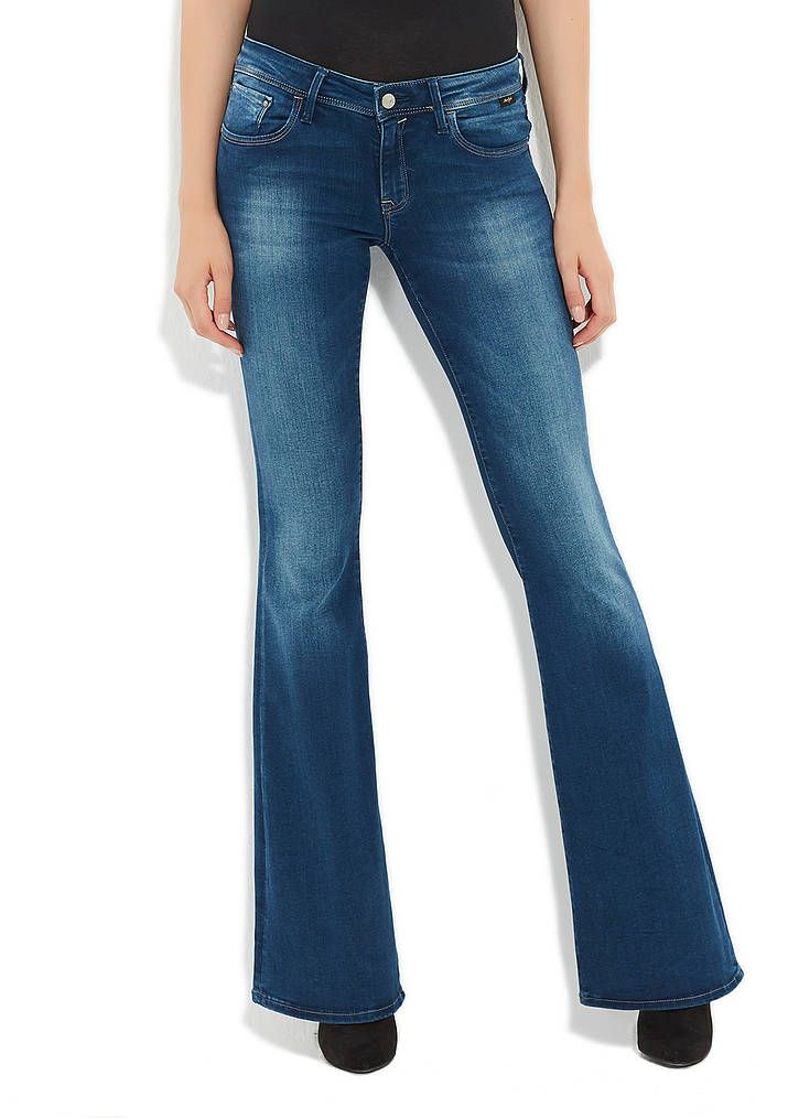 Amber Retro Mavi Gold Jean Pantolon