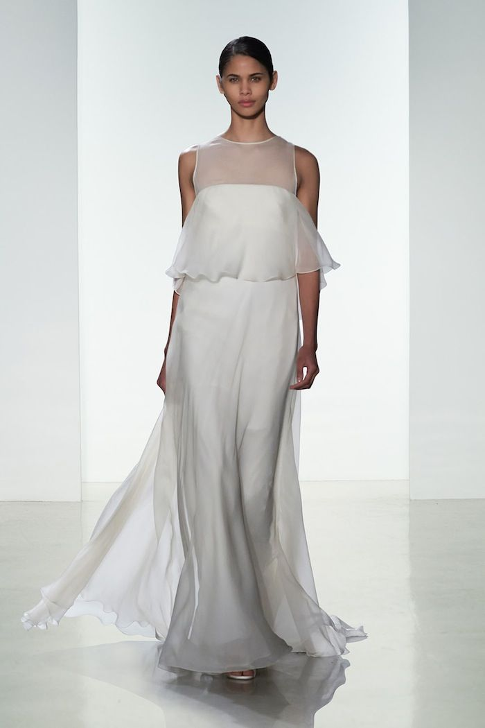 Romantic wedding dress with loose chiffon layers - Dress: Amsale Spring 2016 Collection