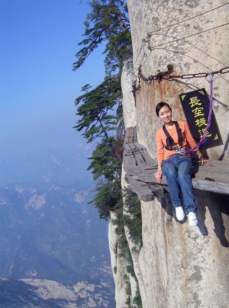 Tourists brave terrifying hiking trail  Hiking Trails, The Edge and