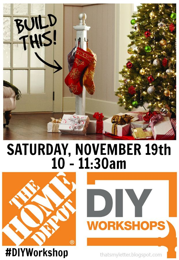 Are you excited and ready to start prepping and primping for the holidays? With all the crazy remodeling nearing completionat our house, I'll be eagerto deck the halls with some holiday cheer. And what better way to display our stockings than on a stocking post? This adorable project will be a featuredDIY free workshop at …