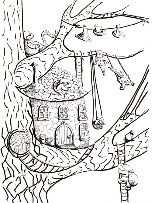 День 3 - показываем Дерево и рисуем Роботов! - Elina Ellis Illustration Page 5