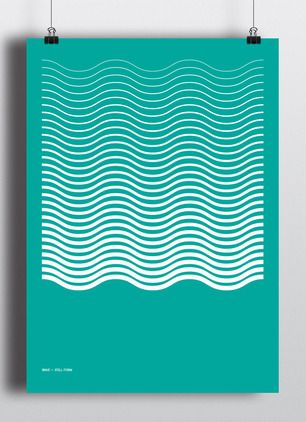 Minimalist posters donning bright and bold, but simple designs from Sansform