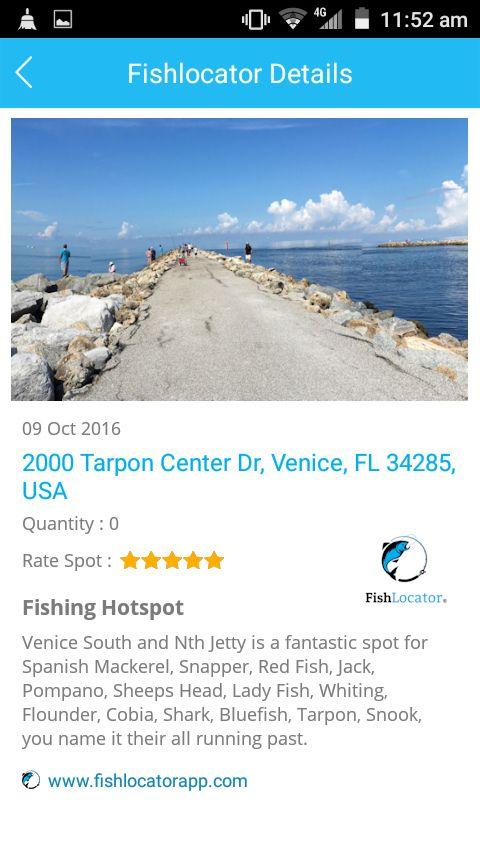 Venice Jetty USA Fishlocator app