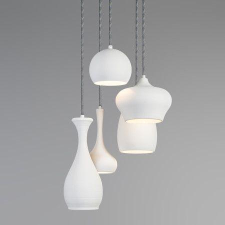 Hanglamp Drops 5 wit - Lampenlicht.nl