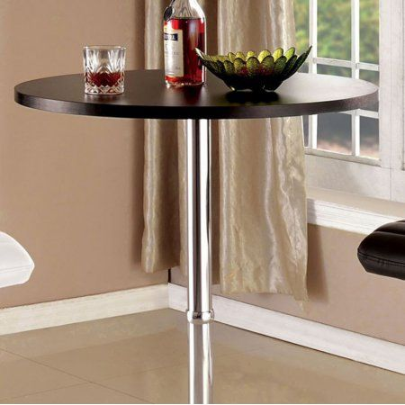 Nessa Contemporary Bar Table, Black, Brown