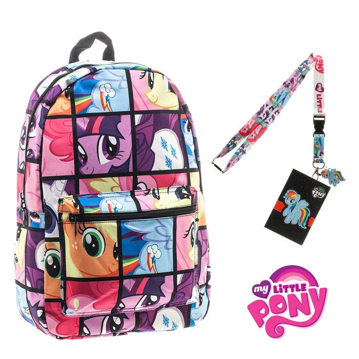 My Little Pony Backpack with Lanyard and Keychain Charm (Comic Strip Version) -- Be sure to check out this awesome product.