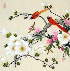 Image result for chinese brush painting flowers