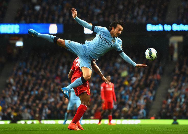 David Silva - Manchester City v Liverpool 25th August 2014 #MCFC #LFC #EPL