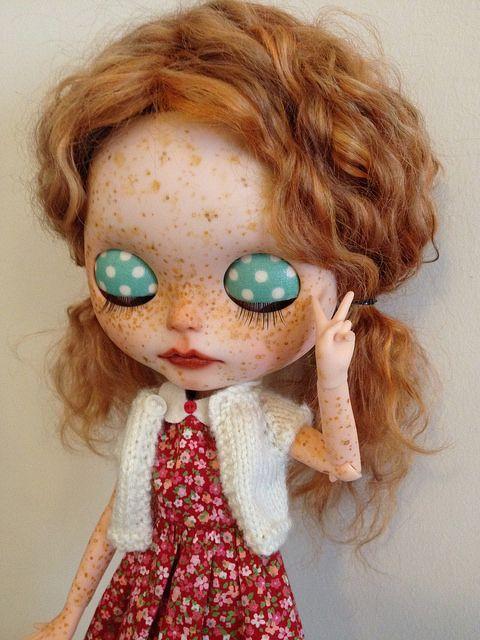 Custom Blythe Doll Ginger Tibetan Reroot by vintagecitygem, via Flickr
