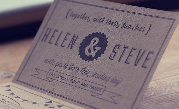 Stunning hand printed wedding invite. See whole thing here http://www.blogandbuysale.com/2012/06/wait-a-minute-mr-postman-sh-wedding-invite/#