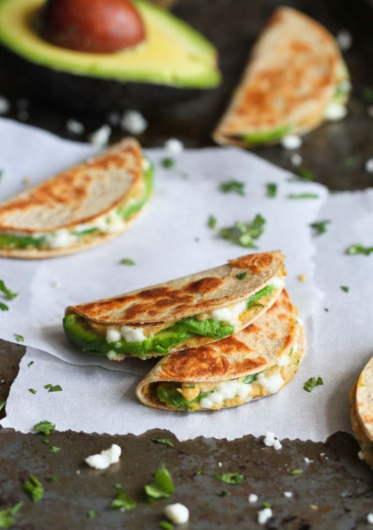 Mini Avocado & Hummus Quesadilla #Recipe  #healthysnacks