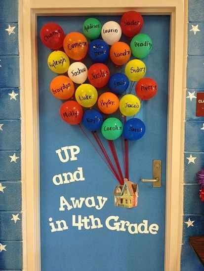 Balloon bouquet Bulletin board/door idea