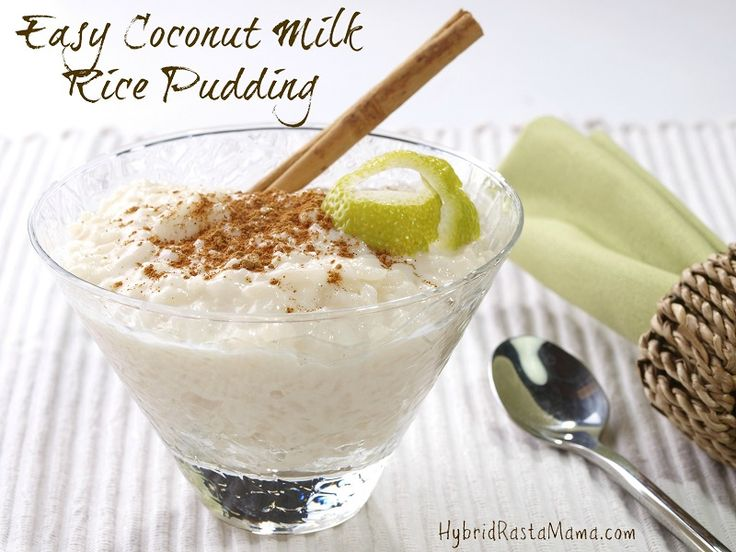 Easy Coconut Milk Rice Pudding from HybridRastaMama.com
