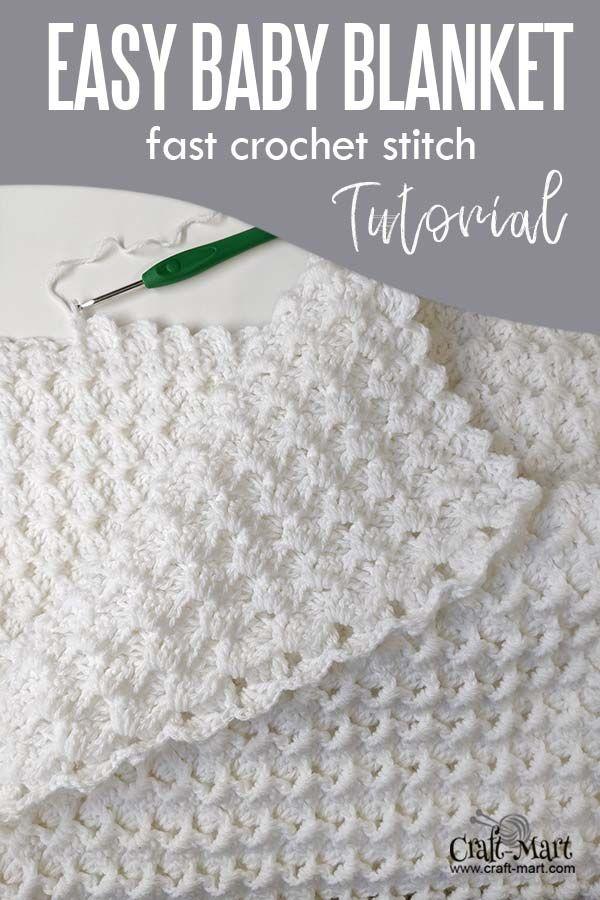 Easy Crochet Baby Blanket White Waves Craft Mart Easy Crochet Baby Blanket Crochet Baby Blanket Free Pattern Crochet Baby Blanket Beginner