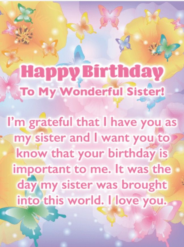 Birthday Greetings For Sister Happy Cards Free Card