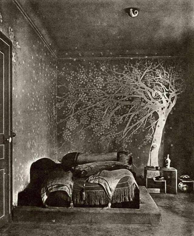 The bedroom of Paul Poiret, Paris, circa 1924