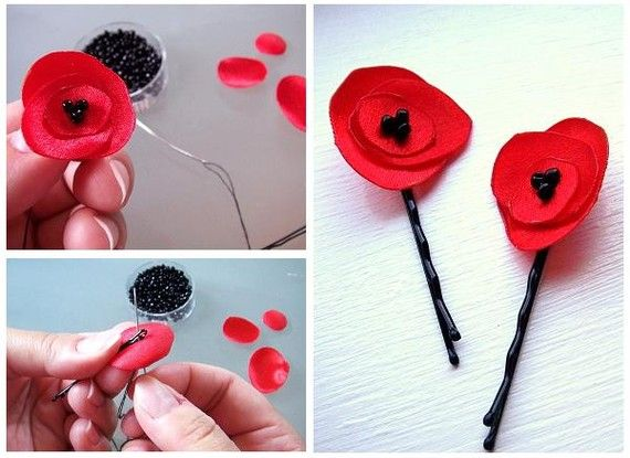 DIY: fabric poppy flower