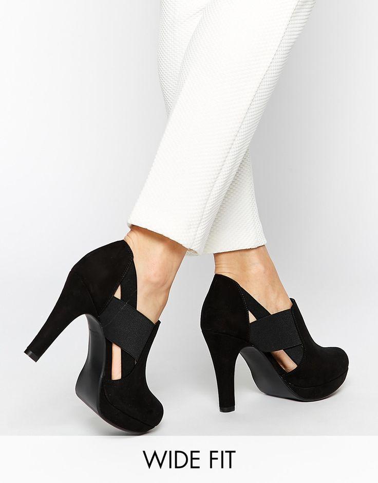 New Look Wide Fit Option Black Elastic Shoe Boots