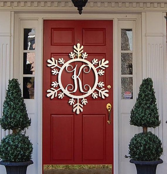 Snowflake Monogram Holiday Wooden Monogram by CraftCutMonogram